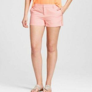 "NWT Merona Neon Orange Texture 3"" Chino Shorts"
